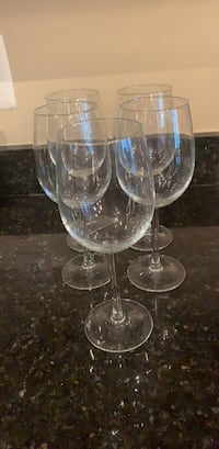 Five  clear long-stem wine glasses Arlington, 22209