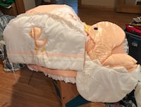 Peach and White baby bedding Chicago, 60608