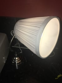 Stainless IKEA steel based table lamp with white lampshade Los Ángeles, 91316