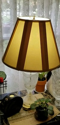 brown and white table lamp 34 km