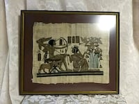 Framed Egyptian Papyrus painting Fairfax, 22033