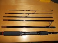 Travel fishing rod 6 section Mitchell, super rod MONTREAL