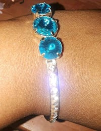 blue gemstone embellished silver-colored bracelet Tuscaloosa, 35405