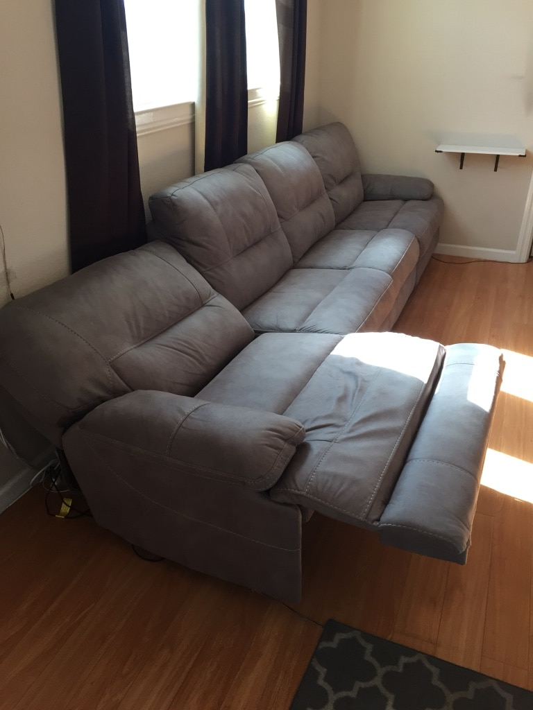 used macys powered couch recliner sofa modular sectional couch cloth rh us letgo com
