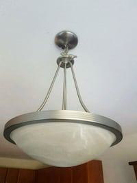 round white and brown pendant lamp Langley, V2Y 1L2