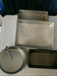5 Cake pans.(1/4 sheet.meet loaf and 2 new round.$ Montclair, 91763