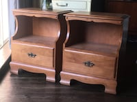 Delivery- pair of vintage maple Nightstands Toronto, M9B 3C6