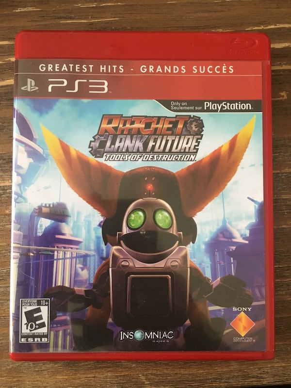 Used Ps3 Ratchet And Clank Tools Is Destruction 10 For Sale In