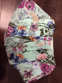 women's white, purple, and pink floral skirt Newmarket, L3X 1E4