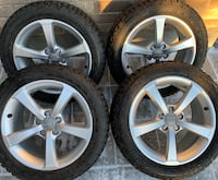4 x 225/50/17 FIRE STONE M+SNOW TIRES AND OEM AUDI RIMS $$$$850 Toronto