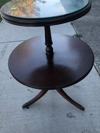 Antique mahogany two tier occasional table great shape  South Bend, 46628