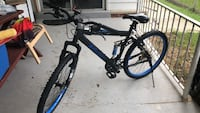 black and blue hardtail mountain bike New Carrollton, 20784