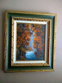 brown wooden framed painting of trees Lubbock, 79416