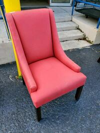Red cloth accent, decorative chair. I have 2. $35 Each Brooksville, 34601