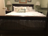 Queen cherry wood mission style. Bedroom set Falls Church, 22043
