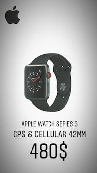 Apple Watch Series 3 (GPS + Cellular) 42mm Laval, H7S 1Y8