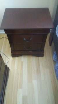 brown wooden 2-drawer nightstand Laval, H7M 5W8