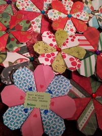 Origami flowers, christmas patterns, mandalas, all colors and sizes