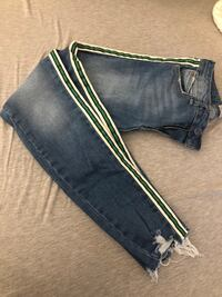Zara jeans with striping (36) Providence, 02903