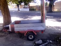 white and red utility trailer Los Angeles