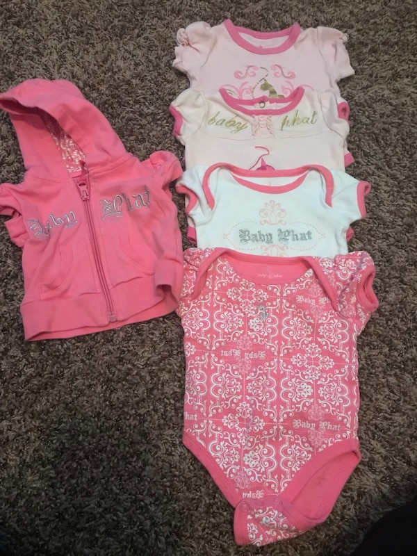 2fab8a92b486 Baby Phat Onsie s and jacket 0-6 months usati in vendita a McDonough ...