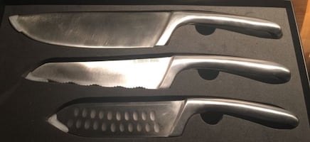New Set of 3 Robert Irvine Professional Stainless Steel Kitchen Knives