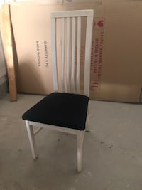 6 cream/black dining chairs Vaughan, L6A