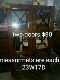 brown wooden framed glass door Fort Worth, 76111
