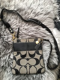 black and gray Coach leather crossbody bag Calgary, T2H