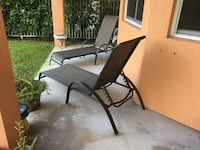 Black and brown patio chaise set North Potomac, 20878