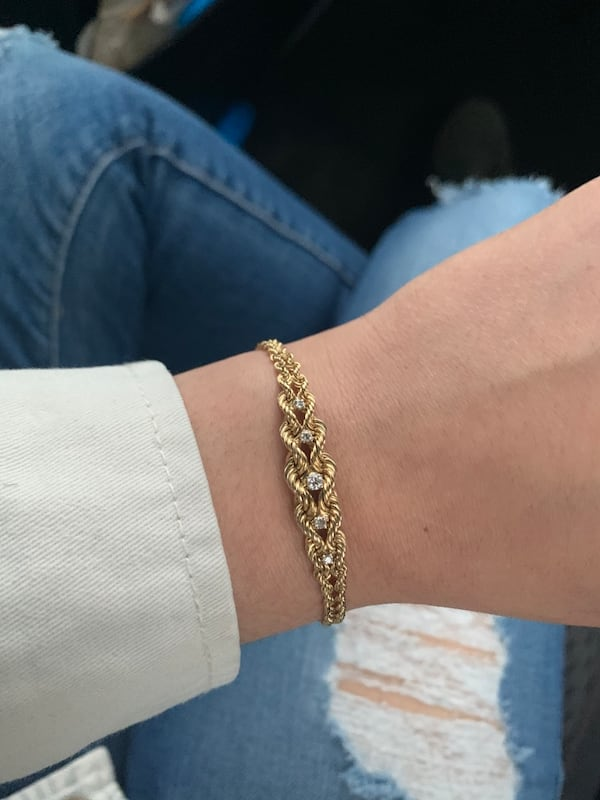 14k Gold 5 Diamond Bracelet 1