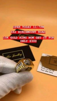 10K REAL GOLD RING. Christmas special  Toronto, M1K 1N8