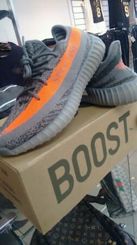 pair of beluga Adidas Yeezy Boost 350 v2 shoes with box Edmonton, T5H 0W4
