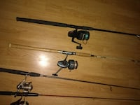 two black and red fishing rods Lansdale
