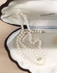 Y Antique OSTRANDER'S JEWELLERY Cultured Pearl Necklace w/ 14k Clasp Whitchurch-Stouffville