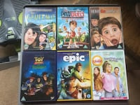 6 Kids DVDs....U Mansfield, NG19 9HD