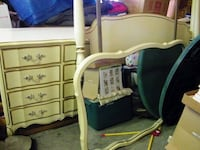 Full size Canopy bedroom set. Full bed, Canopy frame, triple dresser, mirror, and nightstand.  Lincoln, 19950
