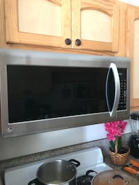 silver LG over-the-range oven Downey, 90241