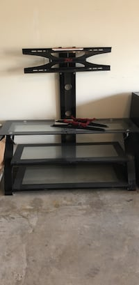 black glass top TV stand Conroe, 77301