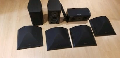 7 Wharfedale theater room speaker set