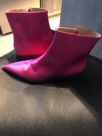 pink leather side-zip mid-calf boots Vancouver, V6B
