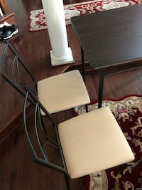Rectangular white wooden table with four chairs Severn