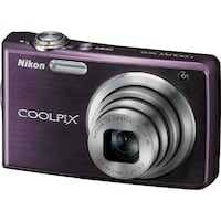 New - plum Nikon coolpix 7x digital camera
