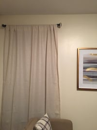 6 Items- Gold curtains and Curtain rods New York, 10032