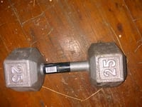 black and gray fixed weight dumbbell Mobile, 36605