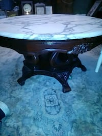Marbletop round coffee table 369 mi