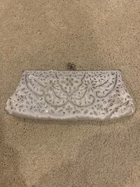 White Sequined Clutch Omaha, 68135