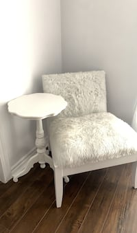 Fur chair and side table