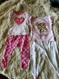 toddler's pink and white floral onesie Montebello