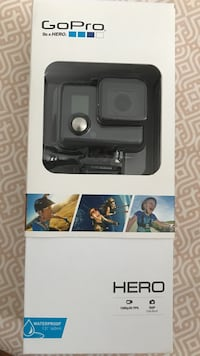 Black gopro hero action camera box